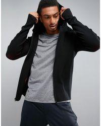 Perry Ellis - 360 Sports Full Zip Knit Hooded In Black - Lyst