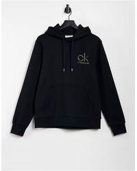 Calvin Klein Черный Худи С Золотистым Логотипом -черный Цвет
