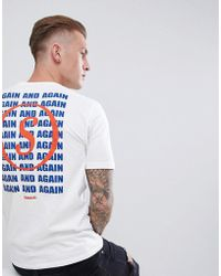 Only & Sons - 'again' Repeat Back T-shirt - Lyst