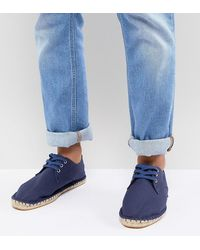 ASOS Wide Fit Lace Up Espadrilles - Blue