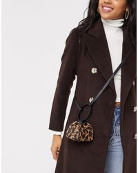 French Connection Tiny Leopard Bag - Multicolour