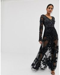 743ca0001c1 A Star Is Born High Neck Maxi Dress With Allover Embellishment In ...