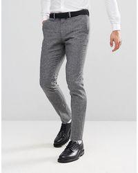 Jack & Jones Premium Slim Tweed Trouser - Gray