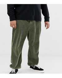 Collusion Plus Cuffed Cord Pants - Green