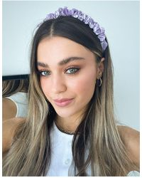 TOPSHOP Ruched Headband - Purple