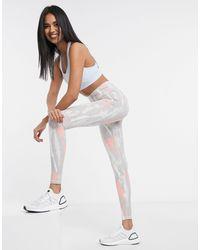 adidas Believe This - Legging taille haute - uni et imprimé rose glory - Gris