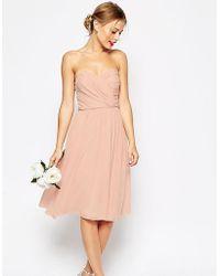 ASOS - Wedding Bandeau Midi Dress - Lyst