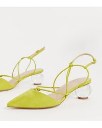 ASOS Wide Fit Sunset Knotted Ball Heels - Green