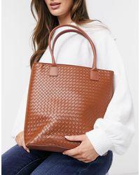 Truffle Collection Weave Tote Bag - Multicolour
