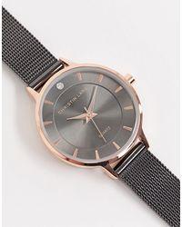 Christin Lars – Dunkelgraue Armbanduhr mit Netzarmband