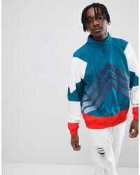 adidas Originals - Nova Half-zip Track Jacket In Green Ce4816 - Lyst