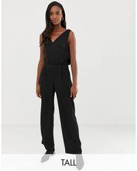 Y.A.S V Neck Jumpsuit - Black