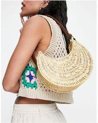 ASOS Structured Rattan Shoulder Bag - Multicolor