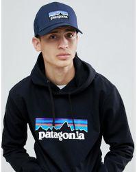 Patagonia - P-6 Logo Trucker Hat In Navy - Lyst
