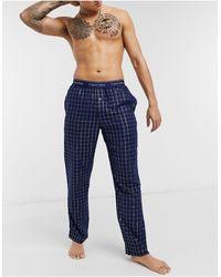 Calvin Klein Sleepwear Flannel Bottoms - Blue