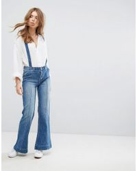 Hollister - Wide Leg Dungarees - Lyst