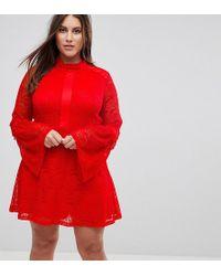 Madam Rage - Long Sleeve Lace Skater Dress - Lyst