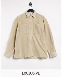 Collusion Флисовая Куртка-рубашка Цвета Экрю -бежевый - Естественный