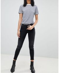 Blend She Sal Cropped Skinny Jeans - Black