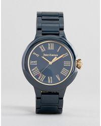 Juicy Couture Silberfarbene Uhr mit Kronenlogo - Mettallic