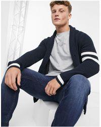 Only & Sons Cardigan blu navy con collo sciallato
