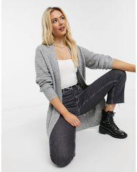 New Look - Светло-серый Удлиненный Кардиган - Lyst