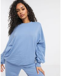 Public Desire Oversized Sweatshirt Co-ord - Blue