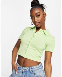I Saw It First Short Sleeve Polo Top - Green