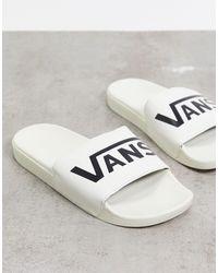 Vans Кремовые Шлепанцы -белый - Многоцветный