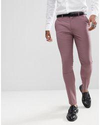 Rudie Pantalones de traje ajustados en tono pastel de Wedding - Rosa
