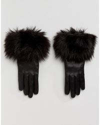Ted Baker - Faux Fur Gloves - Lyst