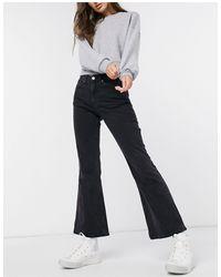 Weekday Wave Flared Jeans - Black