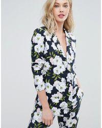 Oasis Floral Print Blazer - Multicolour