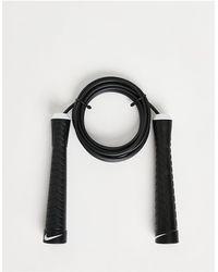 Nike Скакалка С Логотипом-галочкой -черный Цвет