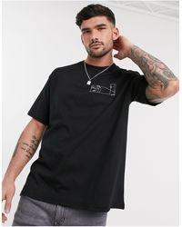 TOPMAN T-shirt With Cosmic Sketch - Black