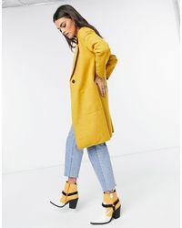 ONLY Coatigan lungo giallo