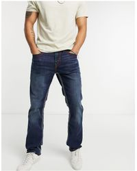 True Religion Rocco No Flap Slim Fit Jeans - Blue