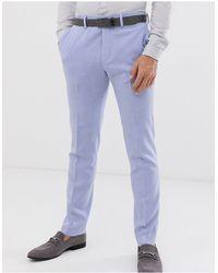 ASOS Wedding Skinny Suit Trousers - Purple