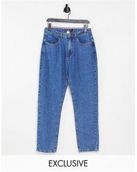 Daisy Street Jean mom en jean délavé - Bleu