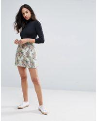 Esprit - Floral Tapestry Skirt - Lyst