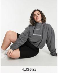 Ellesse Серая Укороченная Куртка Plus-серый