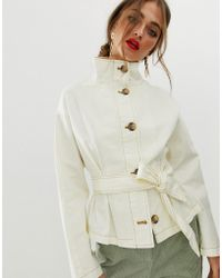 ASOS - Waisted Jacket With Stitch Detail - Lyst