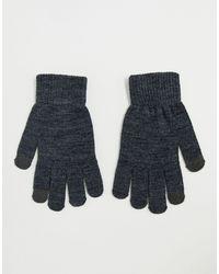 Pieces Touch Screen-handschoenen - Grijs