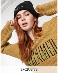 Reclaimed (vintage) Inspired The Branded Fisherman Knit Jumper - Brown