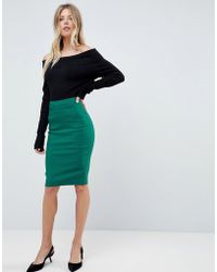 ASOS - High Waisted Pencil Skirt - Lyst