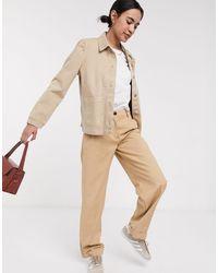 SELECTED Femme Denim Jacket With Pocket Detail - Natural