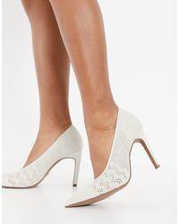 Reiss Zena Pointed Stiletto Heel Wedding Shoes - White