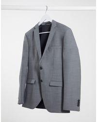 Jack & Jones - Светло-серый Приталенный Пиджак Premium - Lyst