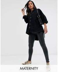 Spanx Spanx Mama - Leggings gainants taille haute en similicuir - Noir