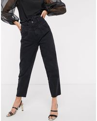 Stradivarius Slouchy Yoke Front Jeans - Black